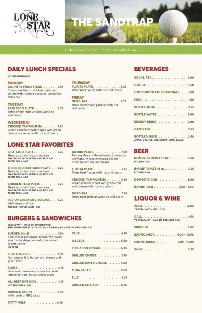 restaurant menu page 2